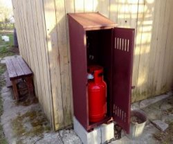 Почему на дачу нужен шкаф под газовый баллон?